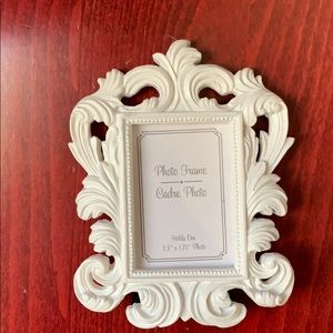 KATE ASPEN White Small Place Card or Picture Frame